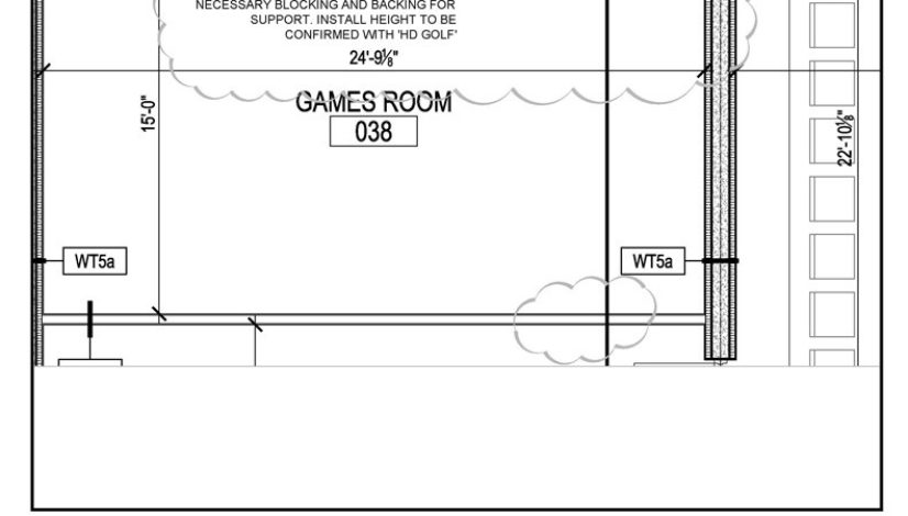Hd golf simulator home2 by hilton milton ontario for Golf simulator room dimensions