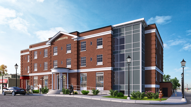 Orillia on Champlain Hotel renovation