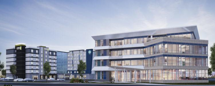 Markham, ON - JM Hospitality Office Building_HiltonCombo in Backround