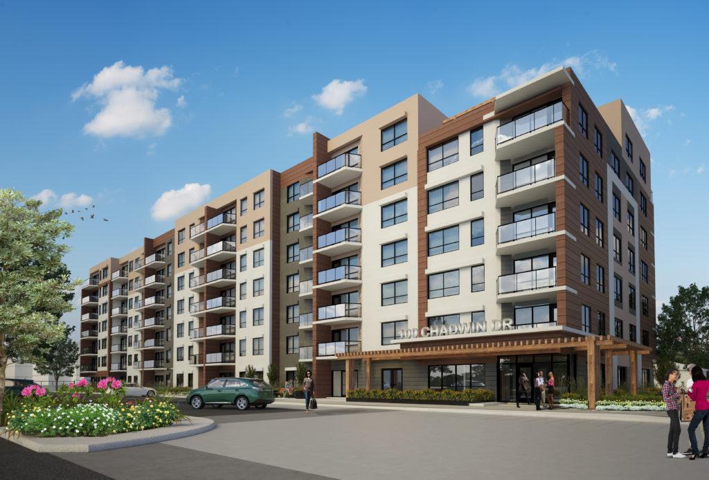 S18-004 Lindsay Apartment Bldg - Rendering - B