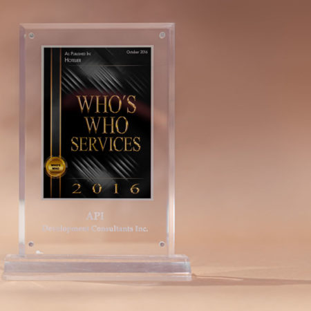 Hotelier Who's Who Services 2016 Award